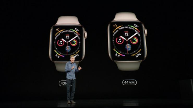 Uusien Apple Watch Series 4 -kellojen rungot ovat hieman aiempaa suuremmat.