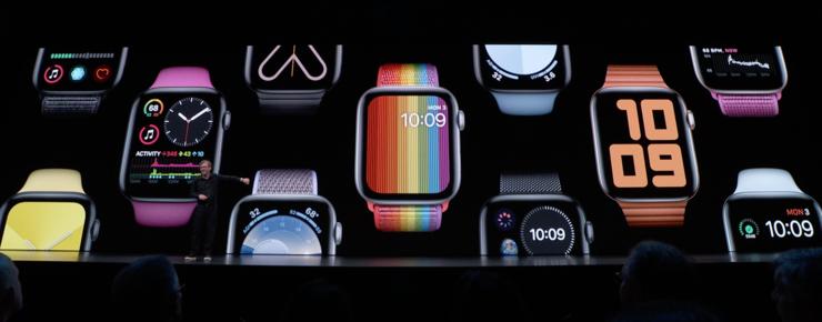 Uudet Apple Watch -rannekkeet sointuvat watchOS 6:n mukana julkaistaviin kellotauluihin.