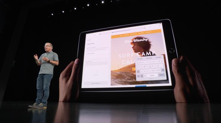 iPadOS tarjoaa myös pienen leijuvan näppäimistön.