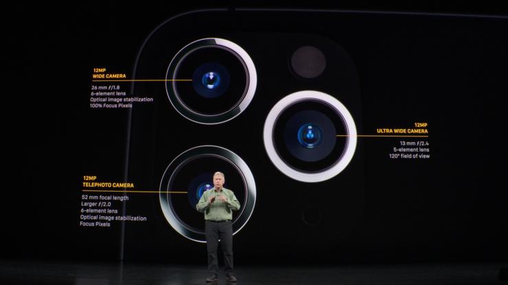 iPhone 11 Pro -mallien kameroiden yksityiskohdat.