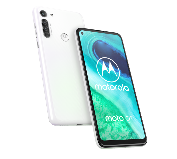 Motorola Moto G8, Pearl White.