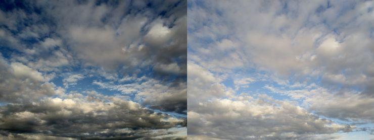 Vasemmassa kuvassa HDR-asetus päällä, oikeassa kuvassa HDR-asetus pois päältä. Kamerasovelluksen HDR-asetus on hyvinkin voimakas joissain tilanteissa.