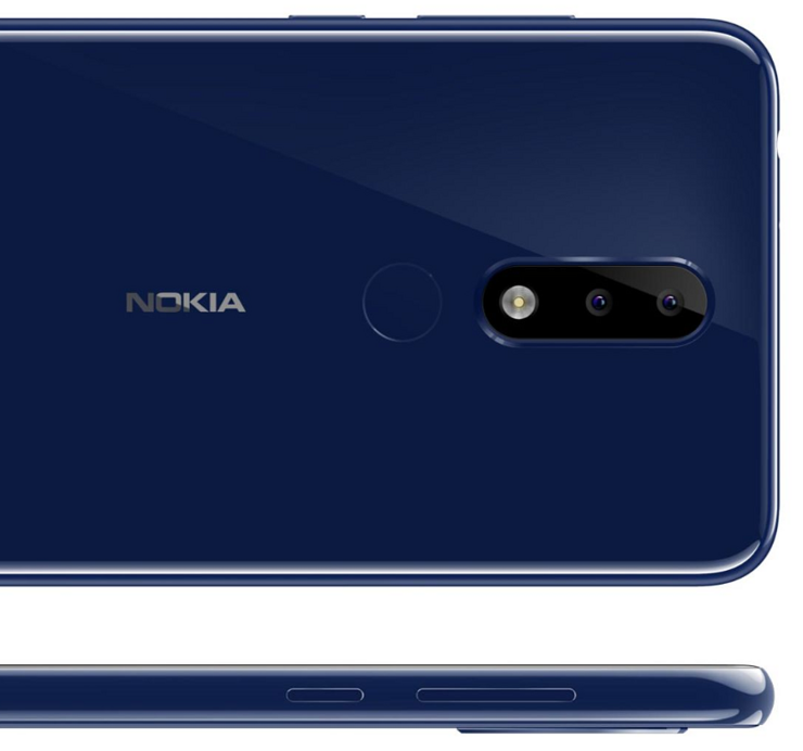 Nokia X5:ssä on kaksoistakakamera. Takakuori on tehty lasista.