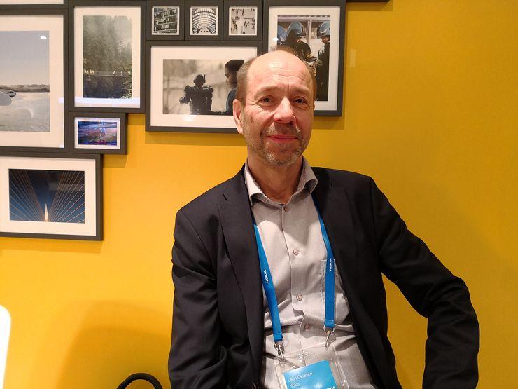 Lauri Oksanen vastaa Nokialla muun muassa standardointiin liittyvästä työstä.