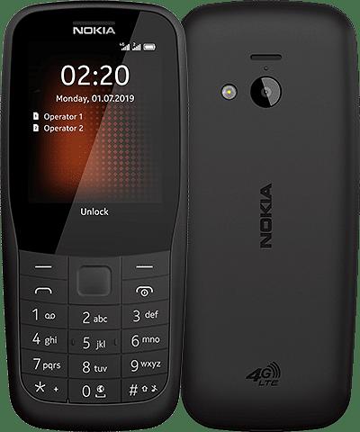 Nokia 220 4G mustana.