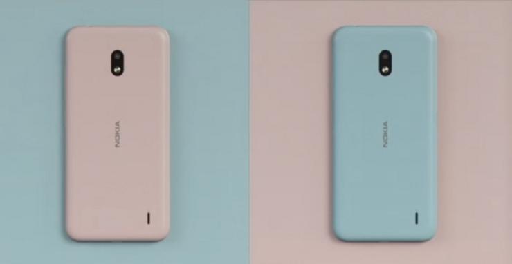 Nokia 2.2:n vaihdettavia Xpress-On-kuoria.