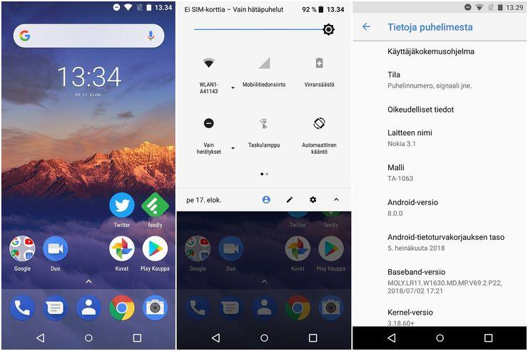 Puhdas vakio-Android on edelleen Nokia-puhelinten vahvuus.