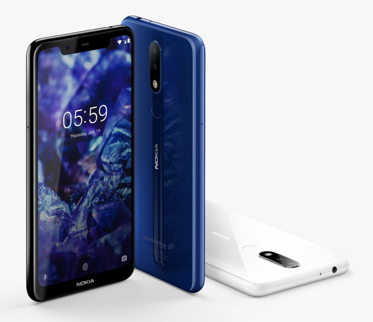 Nokia 5.1 Plus tulee Suomessa myyntiin mustana ja sinisenä värivaihtoehtona.