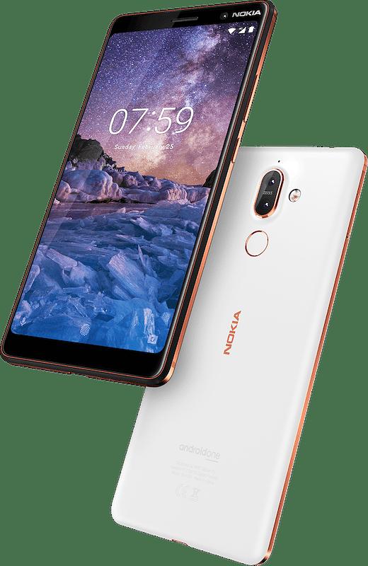 Nokia 7 Plussan toinen värivaihtoehto on valkoinen.