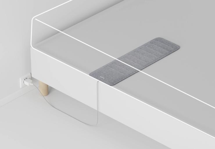 Näin Nokia Sleep on tarkoitus sijoittuu sänkyyn patjan alle.