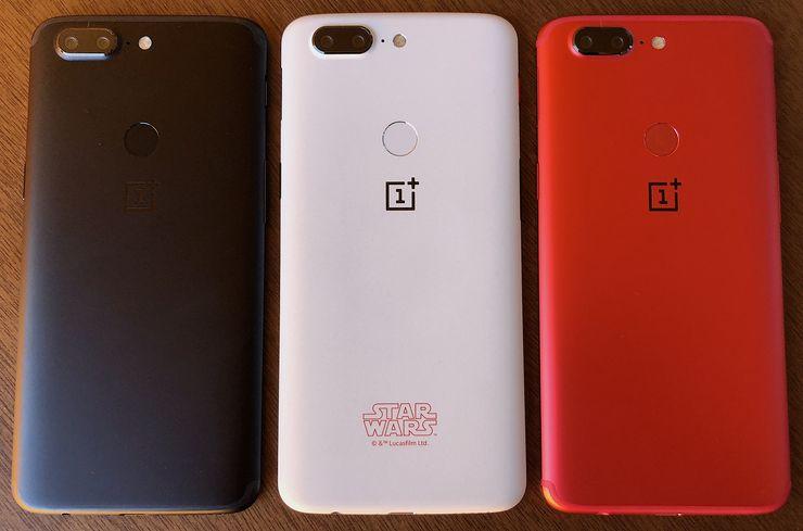 OnePlus 5T Lava Red on kolmas värivaihtoehto OnePlus 5T:lle Suomessa alkuperäisen mustan Midnight Blackin sekä valkoisen Star Wars Limited Edition -erikoisversion jälkeen.