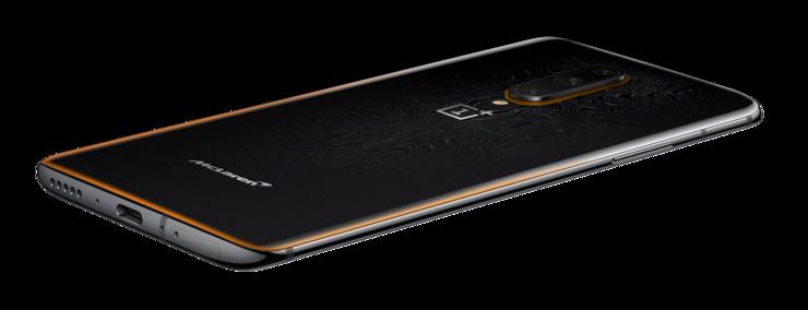 OnePlus 7T Pro McLaren Editionia koristavat oranssit yksityiskohdat.