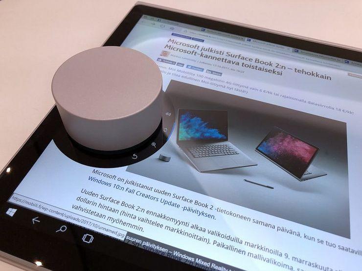 Surface Dial saattaa olla turhan kookas apulaite läppärin näytön päällä käytettäväksi.