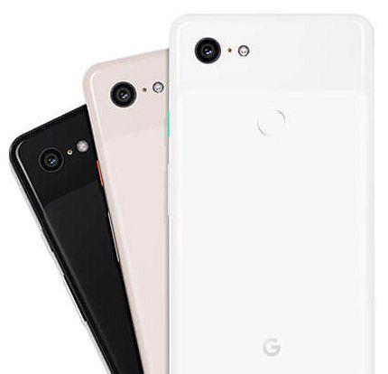 Pixel 3 -älypuhelinten värivaihtoehdot.