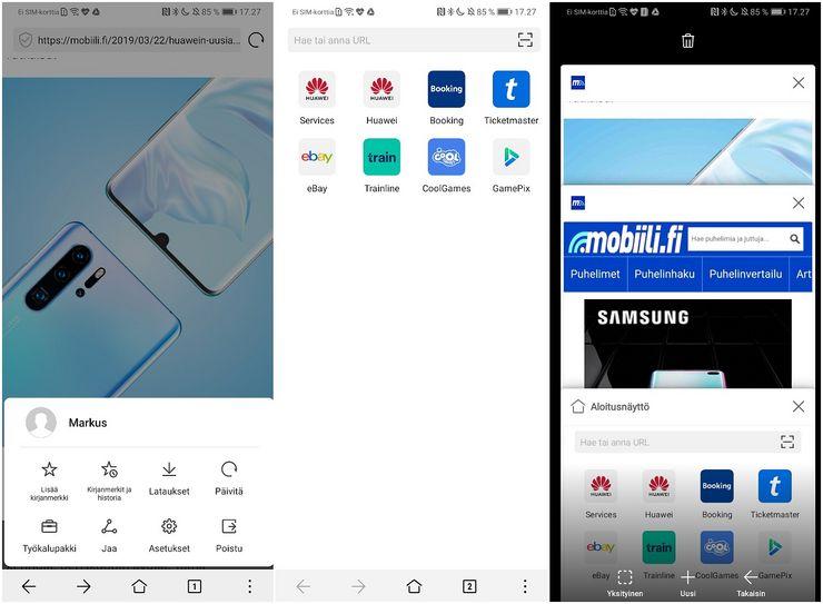 Huawei Selain on vaihtoehto verkkoselaimeksi.