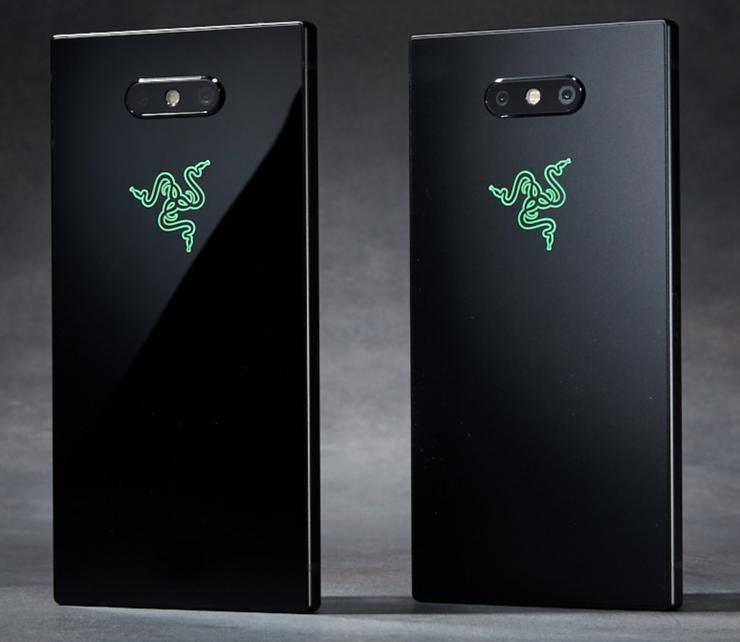 Razer Phone 2:n kiiltävä- ja mattapintaiset värivaihtoehdot.