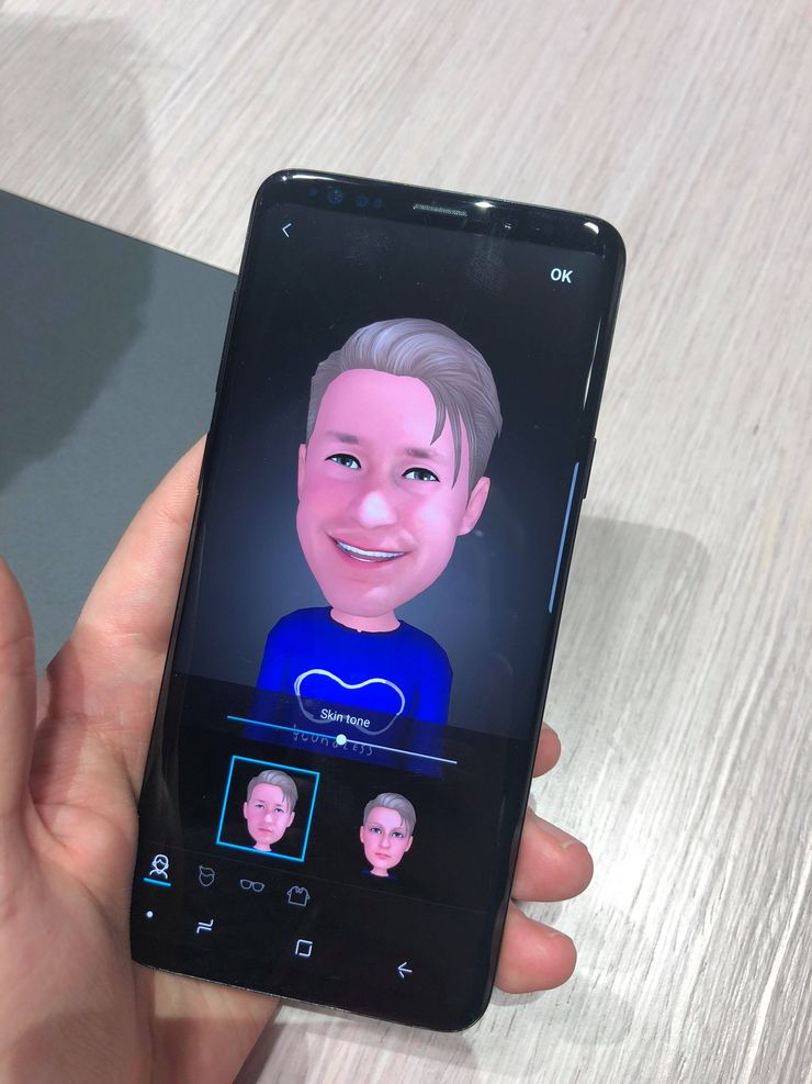 Samsungin tavallinen AR Emoji.