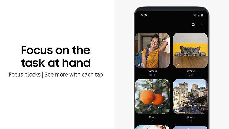 One UI tuo mukanaan puhelimille myös tumman teeman.