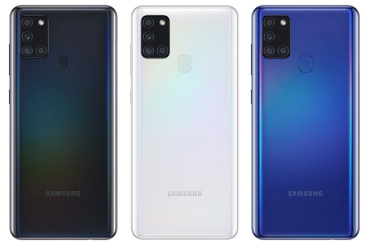 Samsung Galaxy A21s:n värivaihtoehdot Suomessa.
