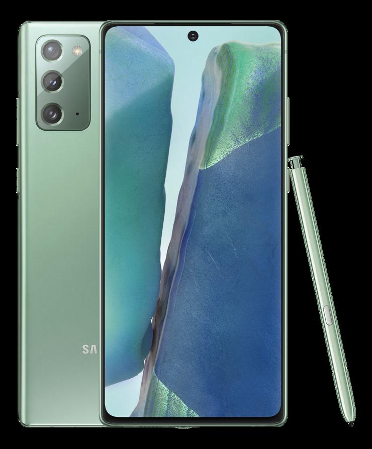 Samsung Galaxy Note20, Mystic Green.