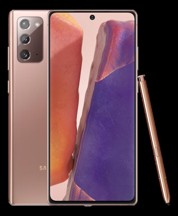Samsung Galaxy Note20, Mystic Bronze.