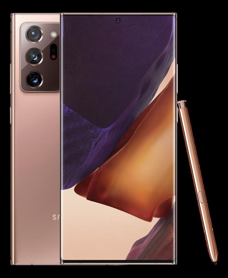 Samsung Galaxy Note20 Ultra, Mystic Bronze.