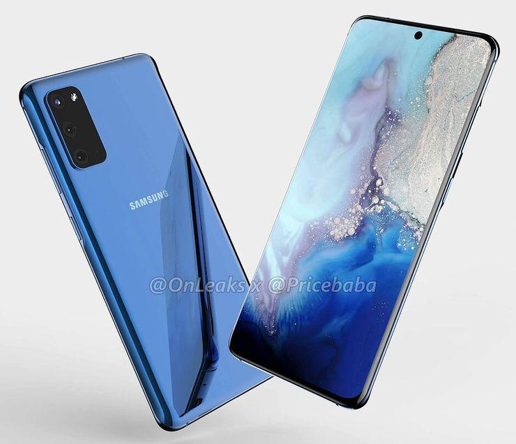 Samsung Galaxy S11e:n mallinnos. Kuva: OnLeaks / Pricebaba.