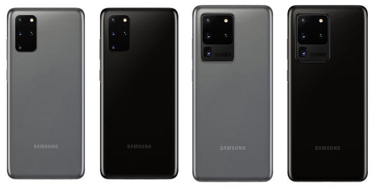 Samsung Galaxy S20+ ja Galaxy S20 Ultra -värit Suomessa.
