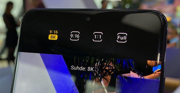 8K-tarkkuuden video on uusi lisäys.