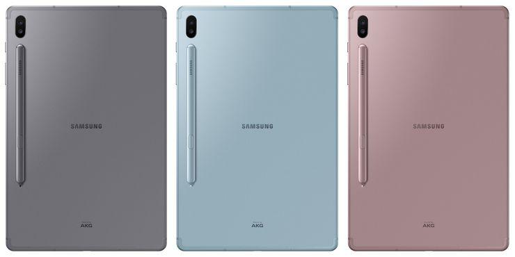 Galaxy Tab S6:n värivaihtoehdot.