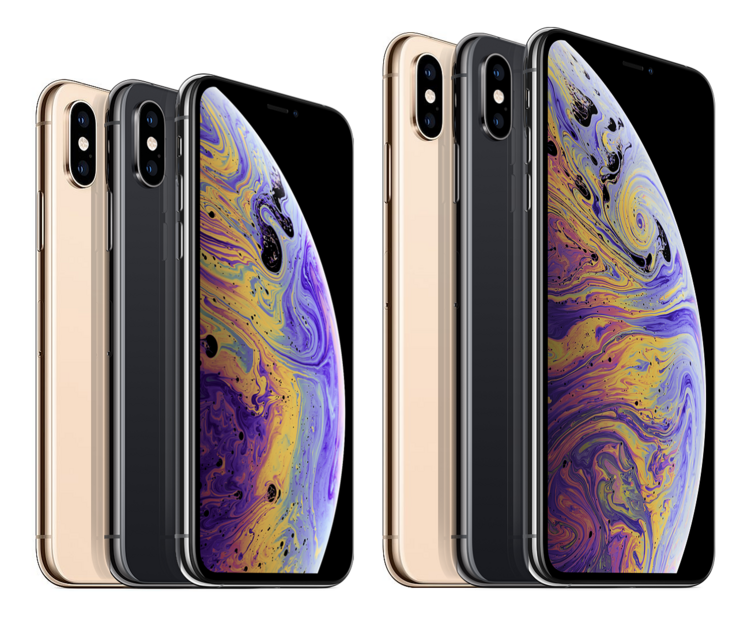 Apple iPhone XS ja iPhone XS Max.