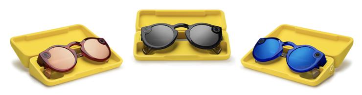 Toisen sukupolven Spectacles-lasien värivaihtoehdot.
