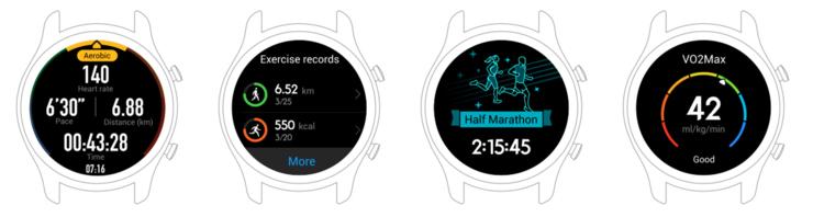 Watch GT sisältää perinteisesti myös monipuolisia toimintoja liikkuvalle käyttäjälle.