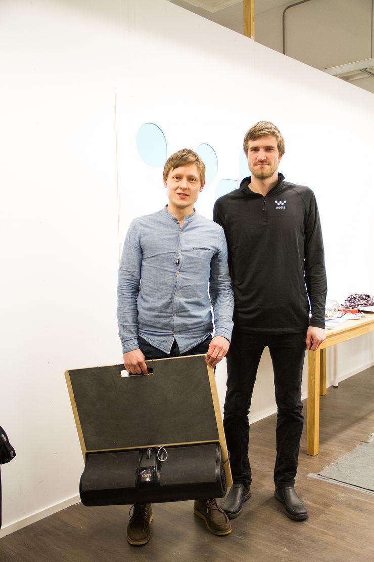 Weelan perustajat Miikka Kurunlahti ja Tuomas Lehto.