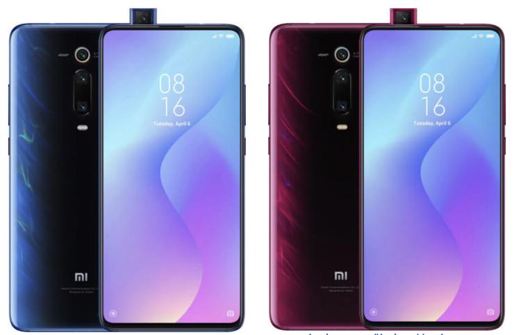 Aiemmin julkaistut kuvat Xiaomi Mi 9T:stä ja Mi 9T Prosta. Lähde: WinFuture.de