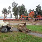 Nanun koulun väistötiloja rakennetaan suuren pysäköintialueen paikalle. Väistötiloja tarvitaan sisäilmaongelmien takia.