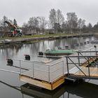 Syväraumanlahden venelaitureita ja Suvitien aluetta on kunnostettu tänä ja viime vuonna.