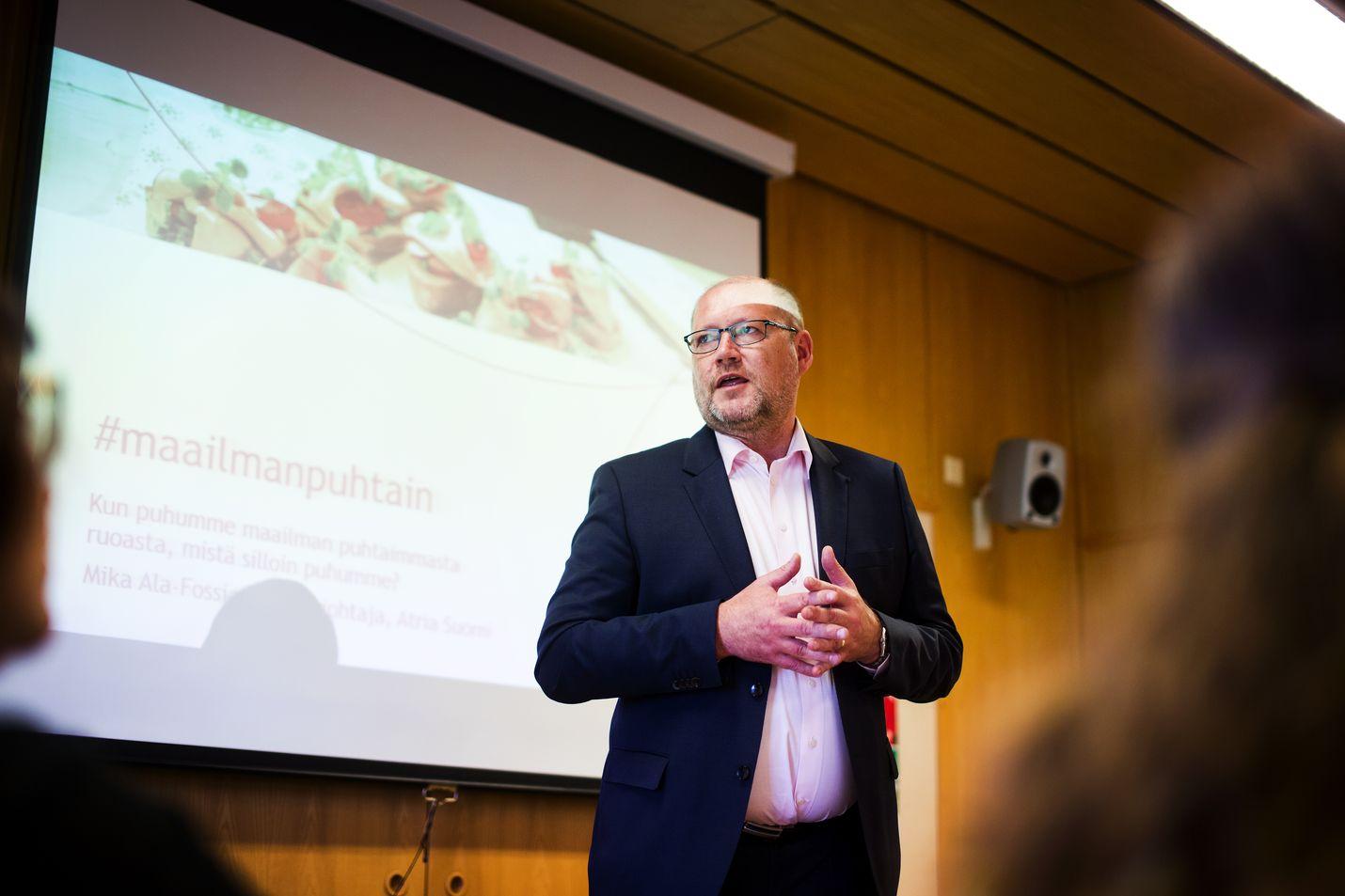 Juha Gröhn on ollut Atrian toimitusjohtajana lähes koko vuosikymmenen. Venäjällä Atria toimii lähinnä Pietarin ja Moskovan alueella.
