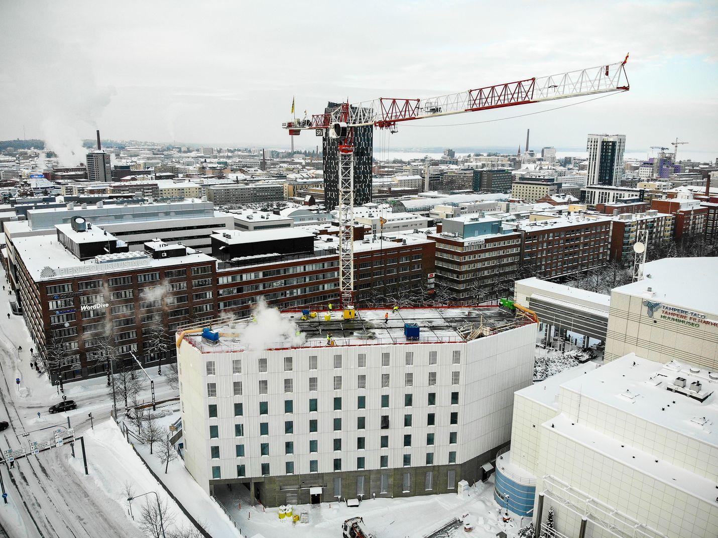 Suomessa aloitetaan tänä vuonna noin 40 000 asunnon rakentaminen. Arkistokuva.
