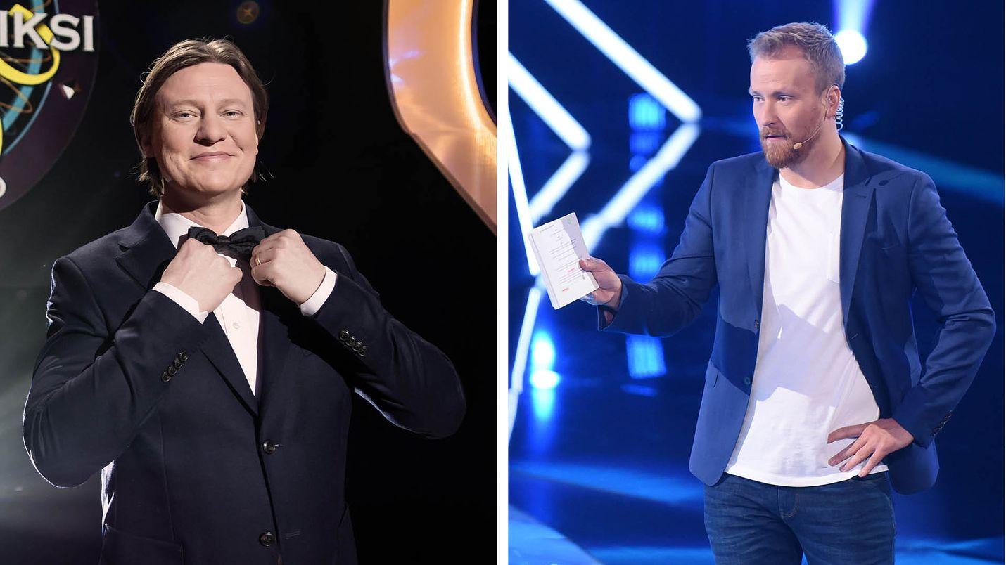 Jaajo Linnonmaa juontaa Haluatko miljonääriksi? -ohjelmaa. Heti sen jälkeen viihdysvuoroon tulee The Wall Suomi ja Heikki Paasonen.