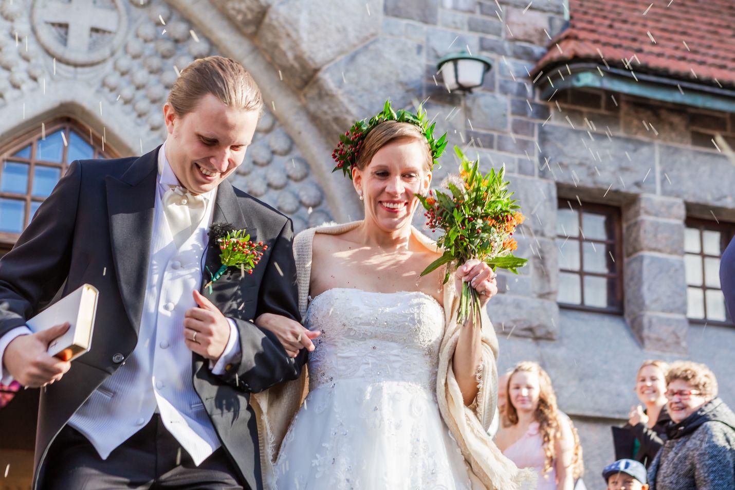 Salla ja Jaska vihittiin Tampereen tuomiokirkossa lokakuussa. He ovat olleen yhdessä vuodesta 2014 saakka.