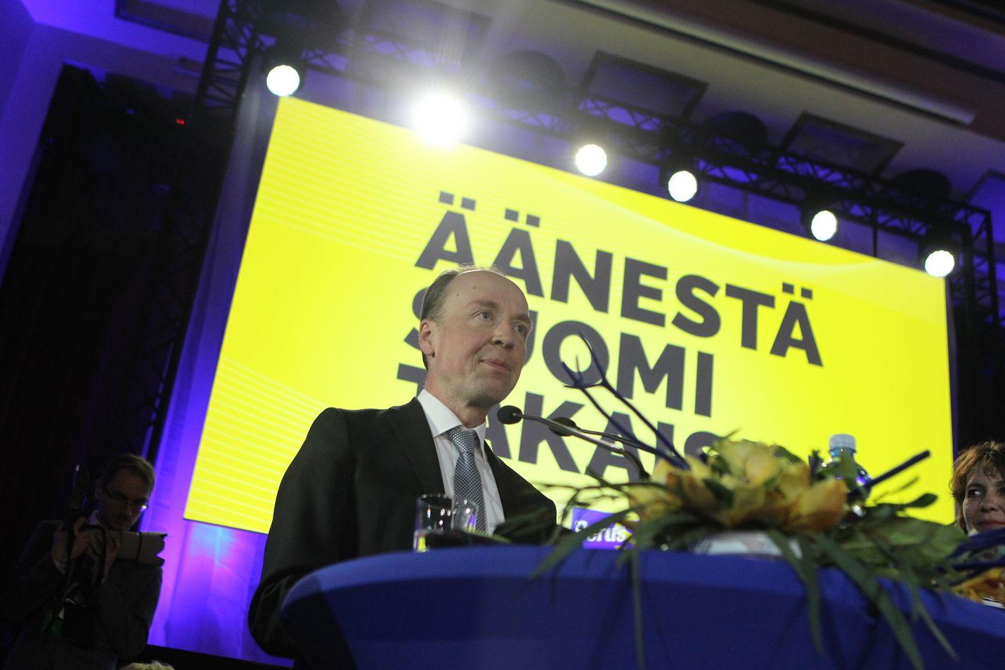 Jussi Halla-ahon perussuomalaiset nousivat eduskuntavaaleissa toiseksi suurimmaksi puolueeksi.