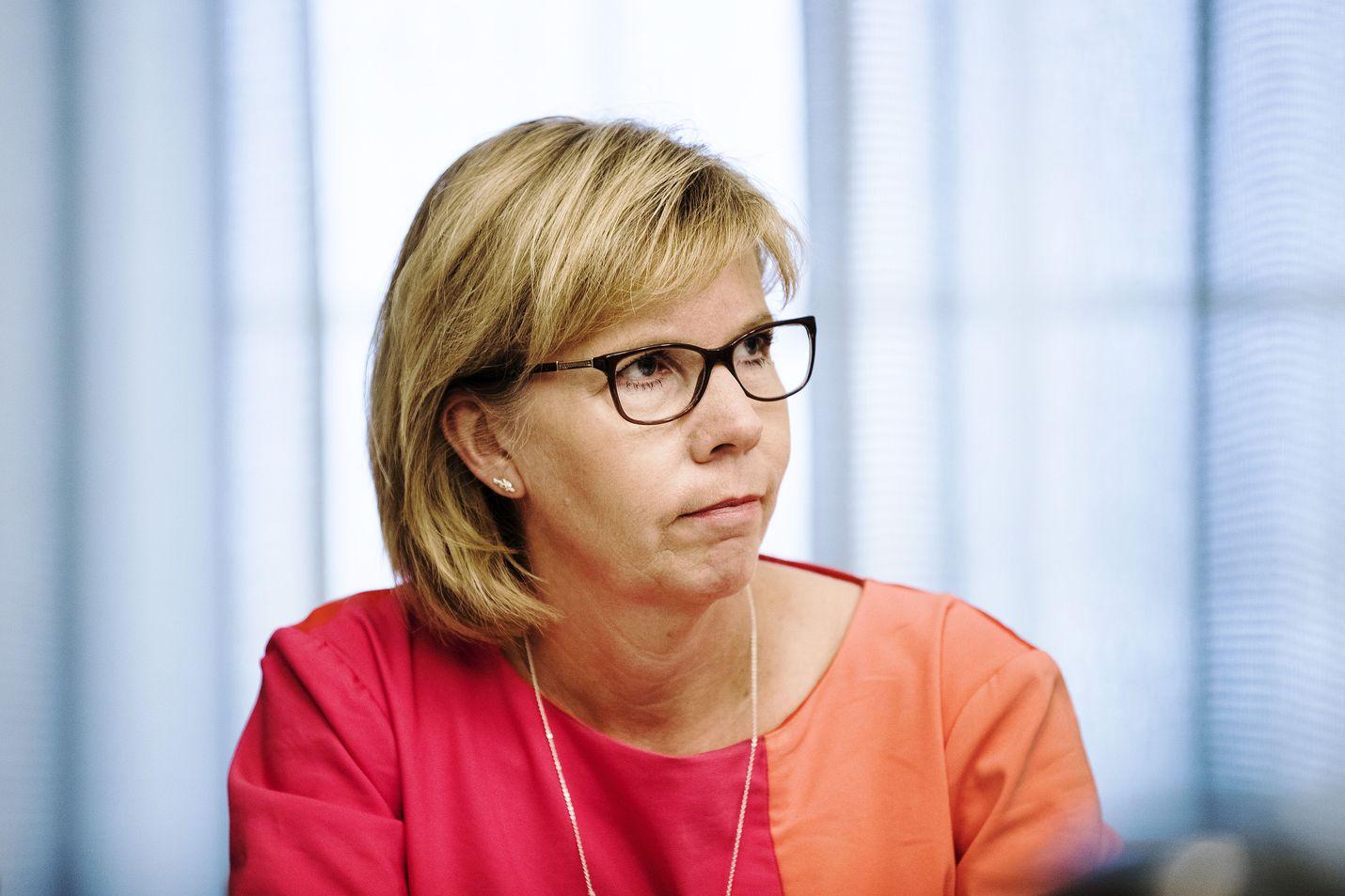 Anna-Maja Henriksson ihmetteli Juha Sipilän puheita, että keskusta olisi jäänyt yksin puolustamaan kestävää metsätaloutta.