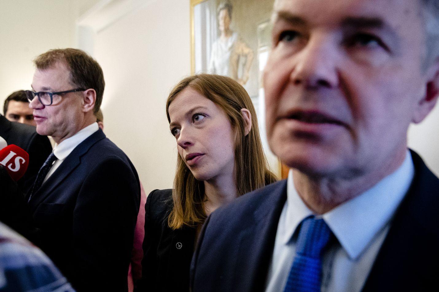 Li Andersson ja Pekka Haavisto haluavat EU:n nostavan ilmastonmuutoksen torjunnan politiikan painopisteeksi. Juha Sipilä oli Ylen tentissä maanantaina. Arkistokuva.
