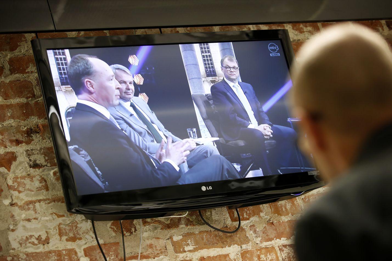 Venäjä ja maahanmuutto olivat esillä Mtv3:n eurovaalitentissä. Arkistokuva vanhasta tv-tentistä.