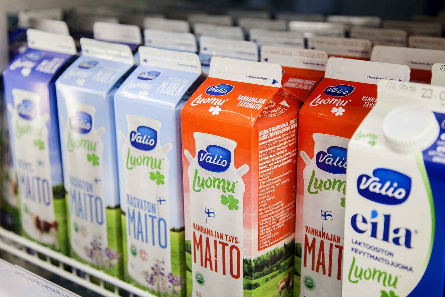 Valio on Suomen suurin maidonjalostaja, joka myös vie paljon esimerkiksi laktoosittomia tuotteitaan. Oikeuden päätös koski perusmaidon hinnoittelua. Kuvituskuva.