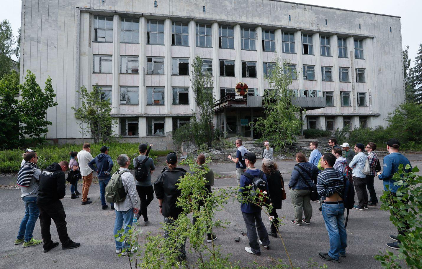 Ukrainan mukaan Tshernobylissä vieraili noin 60 000 turistia vuonna 2017.