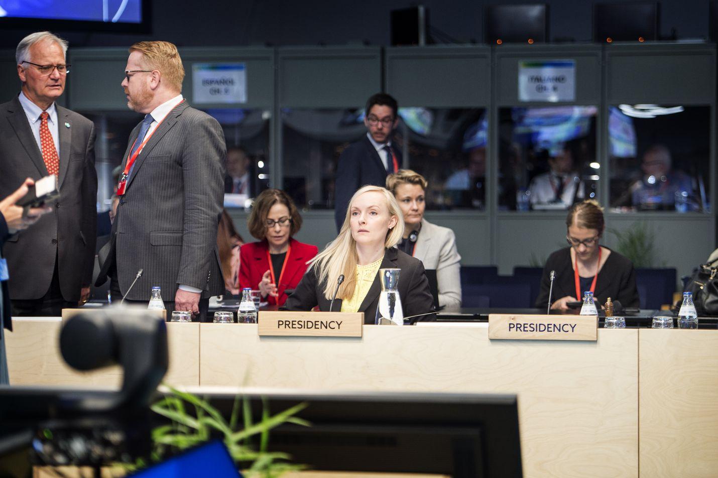 Sisäministeri Maria Ohisalo (vihr.) johti EU:n sisäministerien epävirallisen kokouksen torstaina Helsingissä. Epävirallisissa ministerikokouksissa pohjustetaan tulevaa päätöksentekoa.
