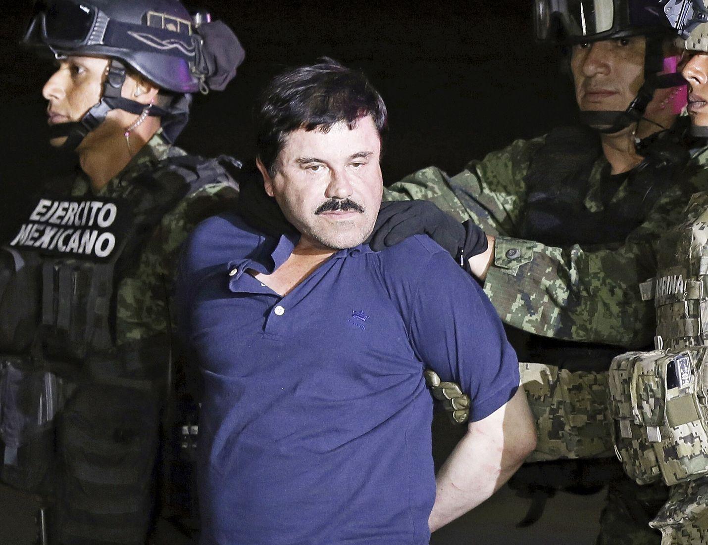 Legendaarinen huumeparoni Joaquín Guzmán eli El Chapo pidätettiin kolmannen kerran Meksikossa vuonna 2016. Kolmannen vankilatuomionsa hän istuu Yhdysvalloissa.