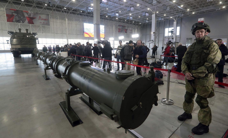 Venäjällä viime viikolla tapahtuneen onnettomuuden syyksi arvellaan Venäjän ydinmoottorilla toimivan risteilyohjuksen räjähdystä. Kuvassa Iskander-M-ohjus esillä Moskovan armeijamuseossa.